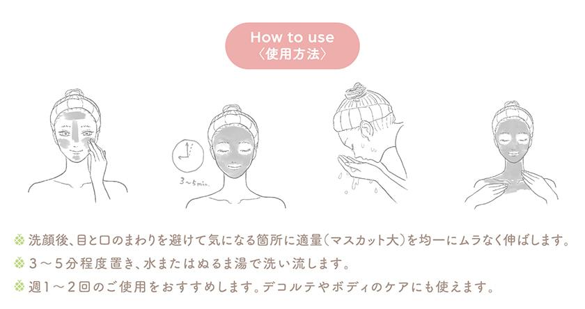 フルモア クレイマスク 使い方