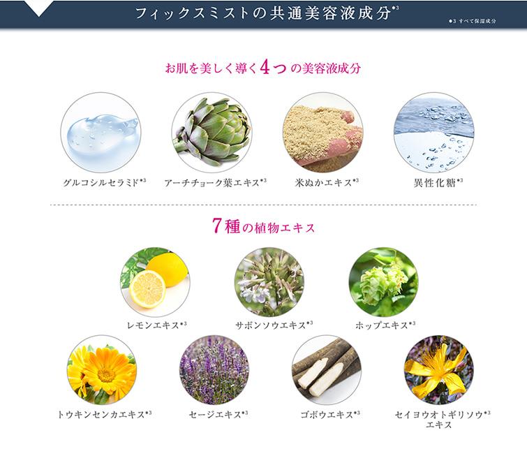 TIME SECRET フィックスミスト 仕上げ用化粧水 成分